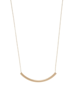 Shoptiques Product: Textured Bar Necklace