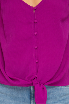 She & Sky  Textured button down cami - Alternate List Image