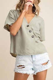 Mittoshop Textured Button-Down Top - Front full body