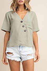 Mittoshop Textured Button-Down Top - Product Mini Image