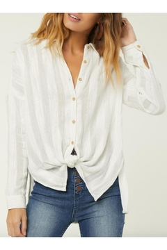 O'Neill Textured Button-Up Blouse - Product List Image
