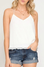 She + Sky Textured Cami Top - Product Mini Image