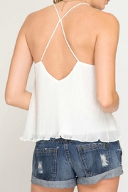 She + Sky Textured Cami Top - Front full body