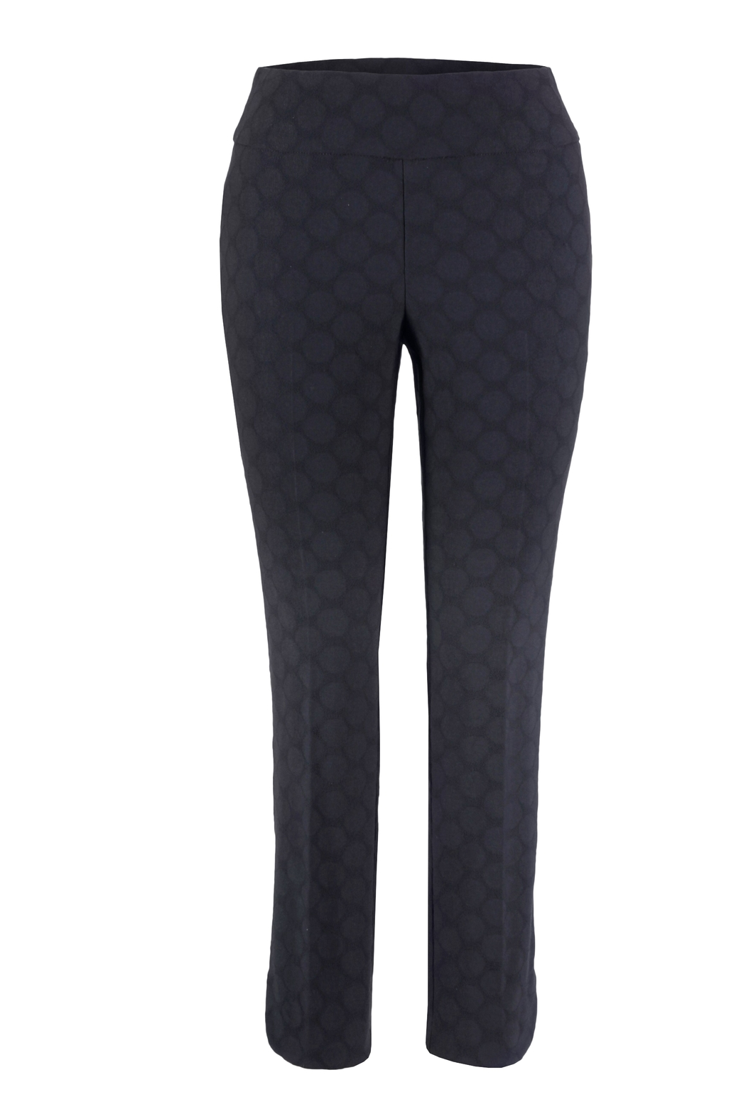 Up! Textured Circle Pant, Navy Blue - Front Cropped Image