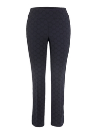 Up! Textured Circle Pant, Navy Blue - Front cropped