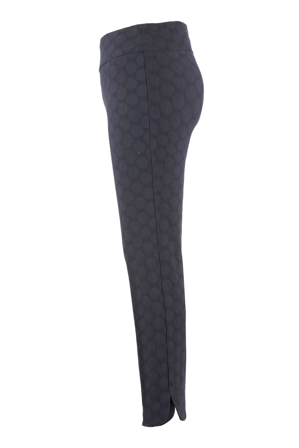 Up! Textured Circle Pant, Navy Blue - Front Full Image