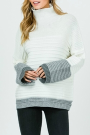 Pretty Little Things Textured Coloblock Sweater - Product Mini Image