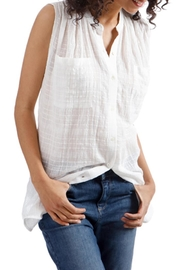 Lucky Brand Textured Cotton Button-Down - Front cropped