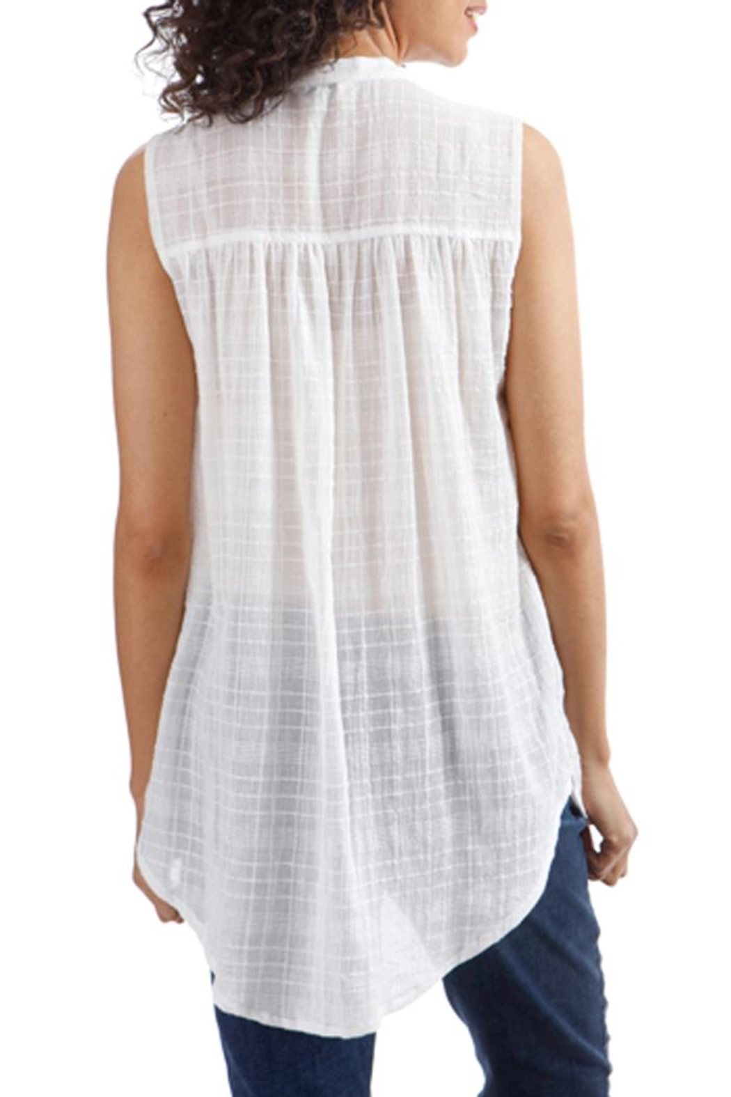 Lucky Brand Textured Cotton Button-Down - Front Full Image