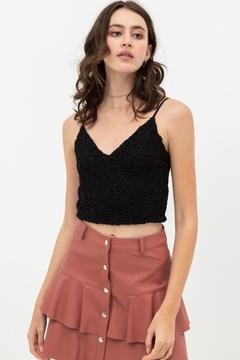 Love Tree  Textured Crop Top Tank - Product List Image