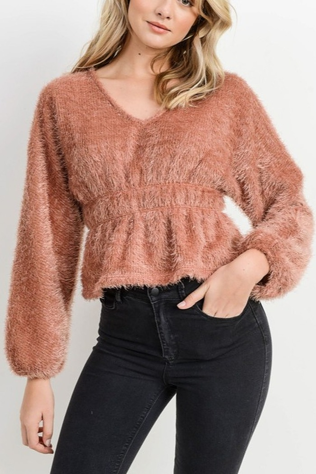 Papercrane Textured Dolman Sweater - Front Cropped Image