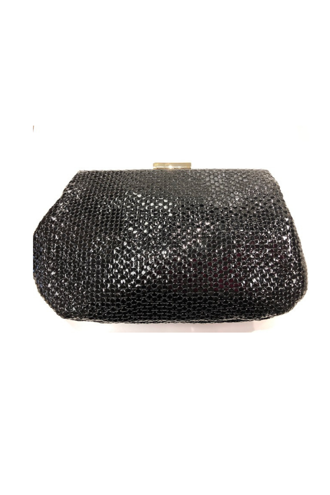 Sondra Roberts Textured Evening Bag With Circle Detail - Front Cropped Image