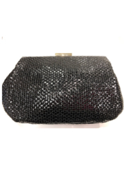 Sondra Roberts Textured Evening Bag With Circle Detail - Front cropped