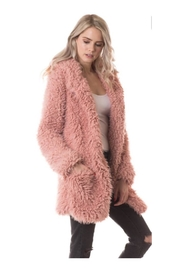 Polly & Esther Textured Faux-Fur Coat - Product Mini Image