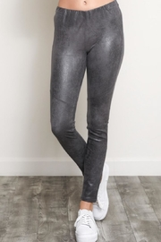 Wishlist Textured Faux-Suded Leggings - Product Mini Image