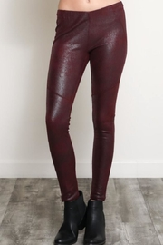 Wishlist Textured Faux-Suede Leggings - Product Mini Image