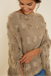 Hayden Los Angeles Textured Fringe Poncho - Product Mini Image