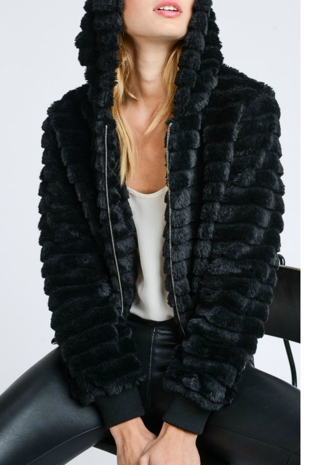 Lovetree Textured Fur Jacket - Front Cropped Image