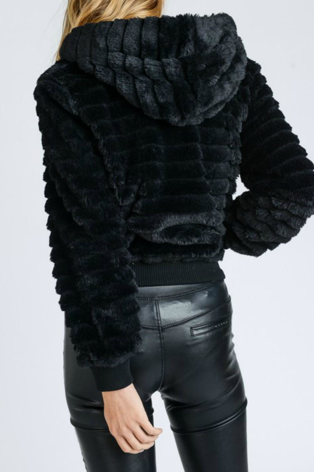 Lovetree Textured Fur Jacket - Front Full Image