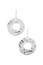 Girly Textured Geo Drop Earrings - Product Mini Image