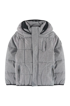 3Pommes Textured Grey Puffer - Product List Image