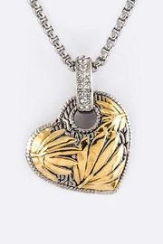 Nadya's Closet Textured Heart Necklace - Product Mini Image
