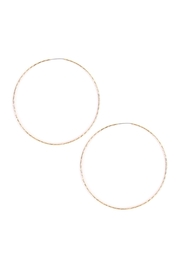 Riah Fashion Textured Hoop Earrings - Product Mini Image