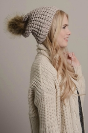 Pretty Little Things Textured Knit Beanie - Product Mini Image