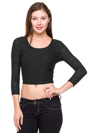 ambiance apparel Textured Lace Crop - Product Mini Image