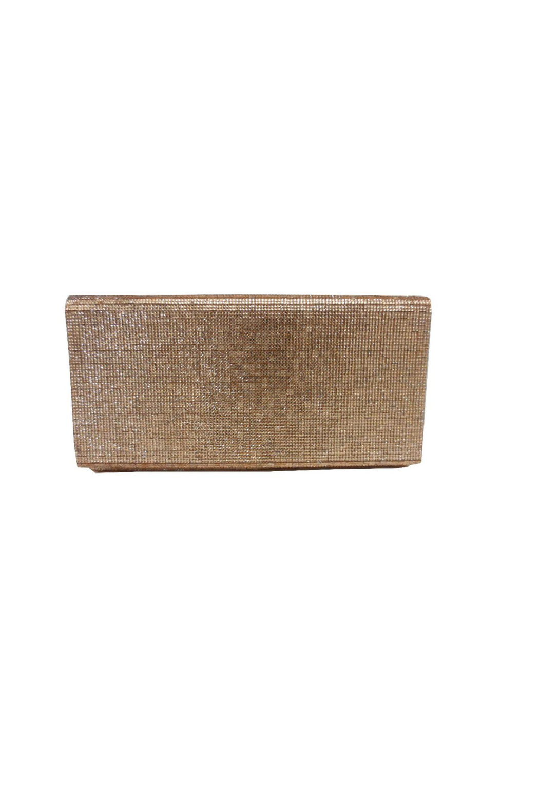 Sondra Roberts Textured Metallic Evening Clutch - Front Cropped Image
