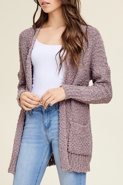 LuLu's Boutique Textured Open Cardigan - Product List Image