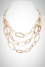 Embellish Textured Ovals Necklace - Product Mini Image