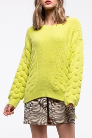 Moon River Textured Pattern Pullover Sweater - Product Mini Image