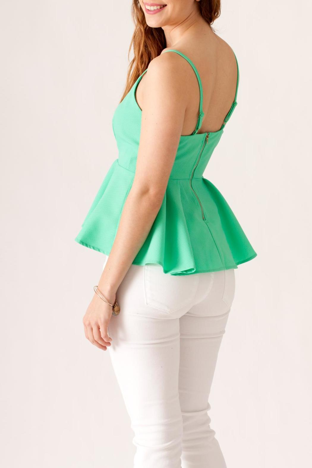 May 23 Textured Peplum Top - Side Cropped Image
