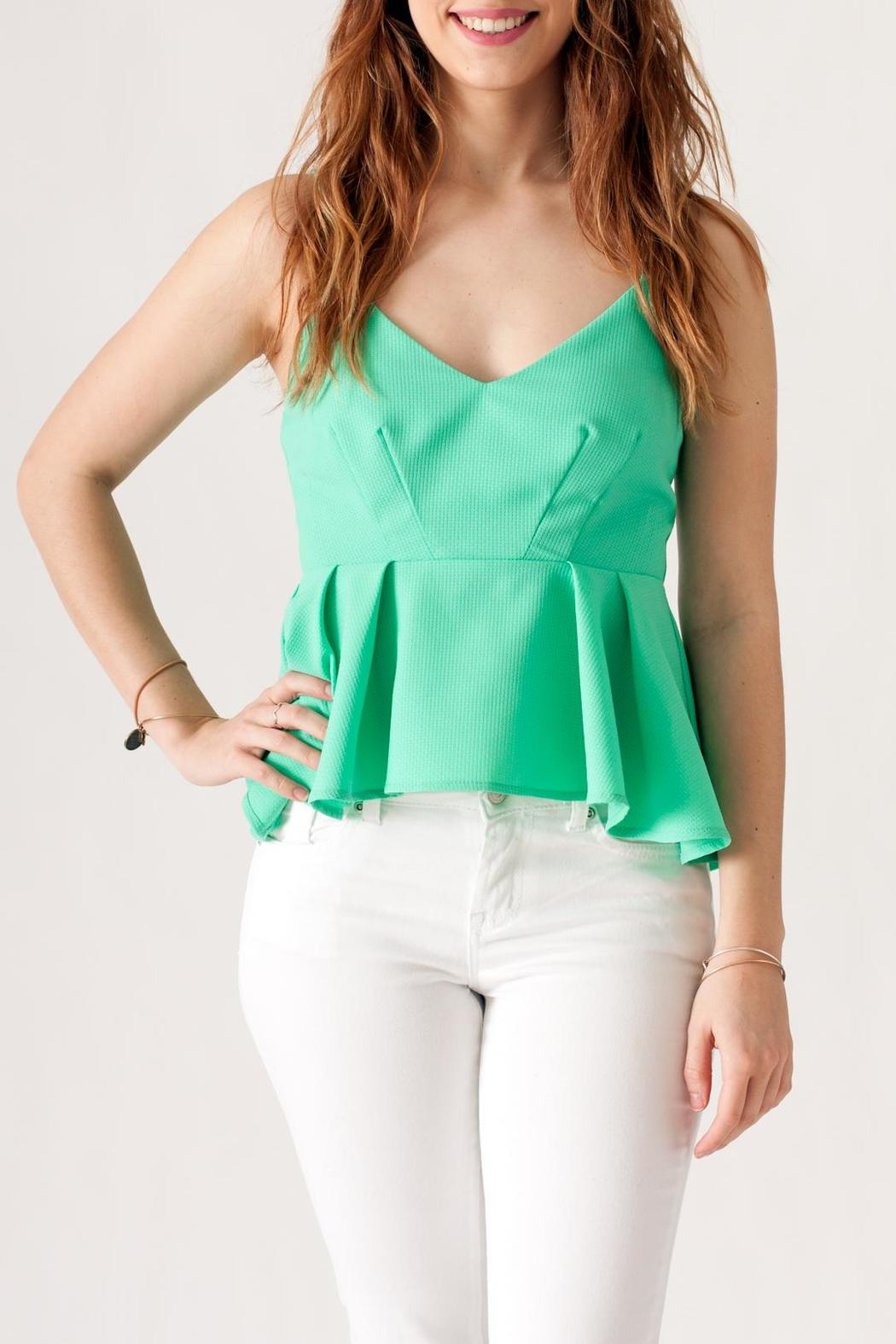 May 23 Textured Peplum Top - Front Cropped Image