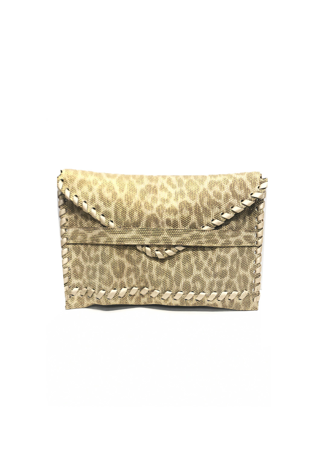 laggo  Textured Polka Clutch - Front Cropped Image