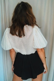 FREE THE ROSES Textured Puff Top - Side cropped