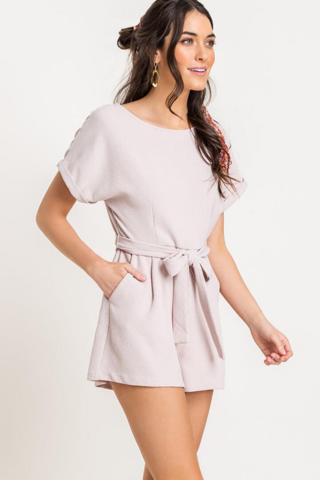Lush Clothing  Textured romper - Main Image