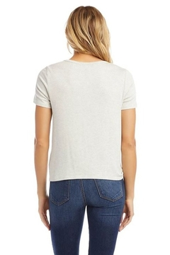 Karen Kane Textured Side-Tie Top, Heather Gray - Alternate List Image