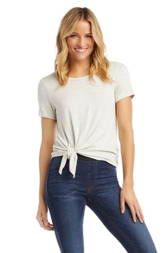 Karen Kane Textured Side-Tie Top, Heather Gray - Product List Image