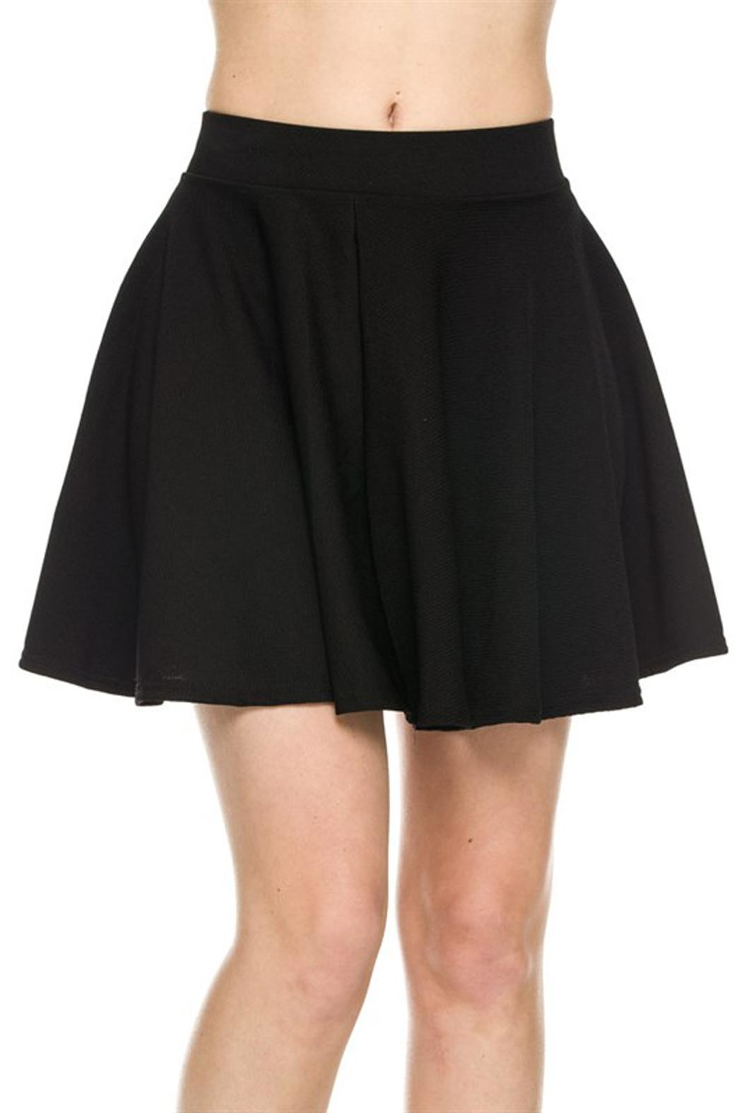 New Mix Textured Skater Skirt - Front Cropped Image