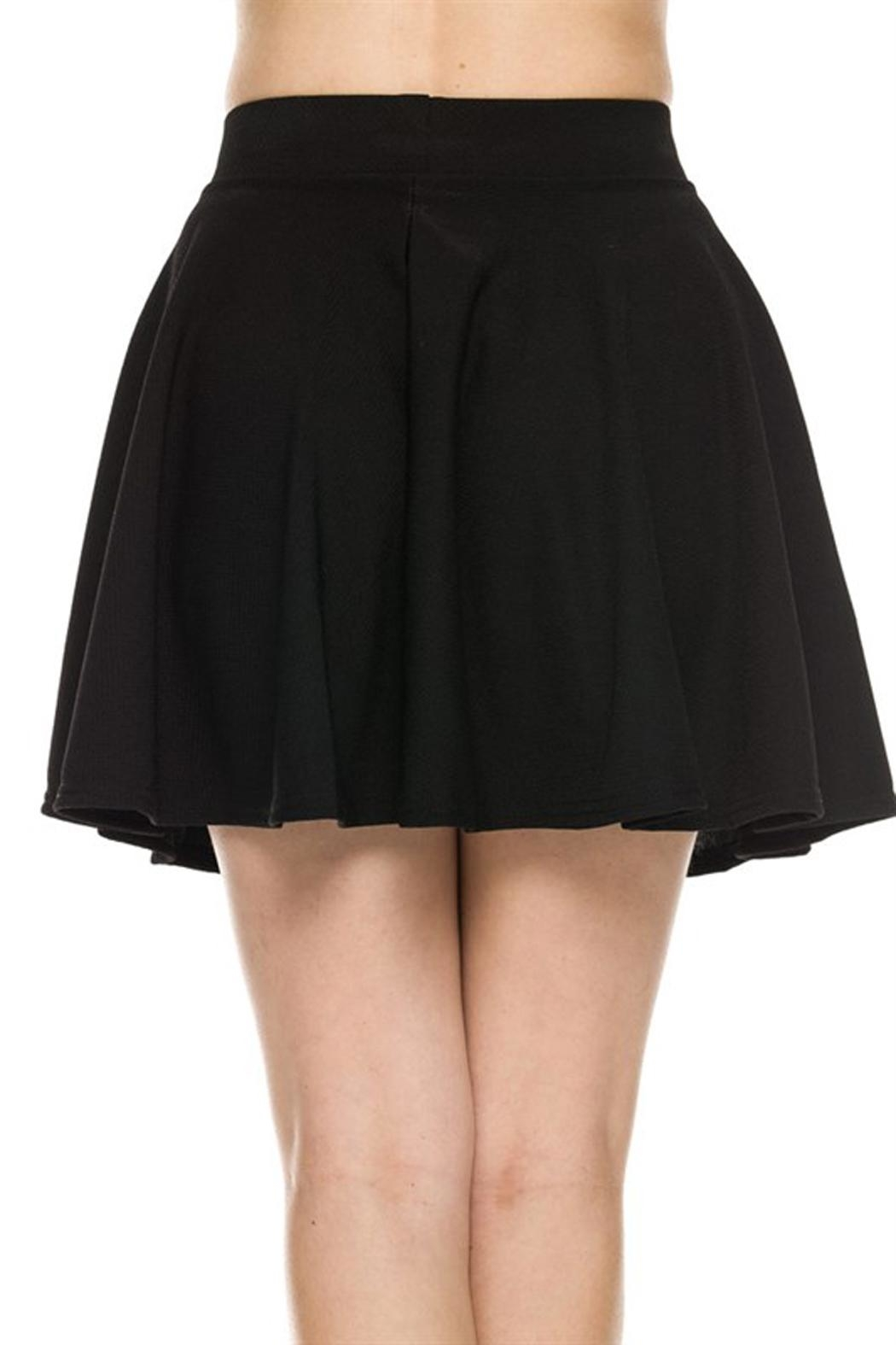 New Mix Textured Skater Skirt - Side Cropped Image