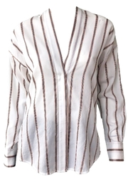 Vince Textured Stripe Pullover - Other