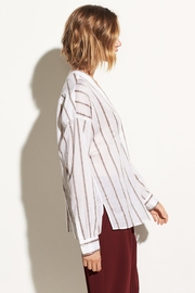 Vince Textured Stripe Pullover - Front full body
