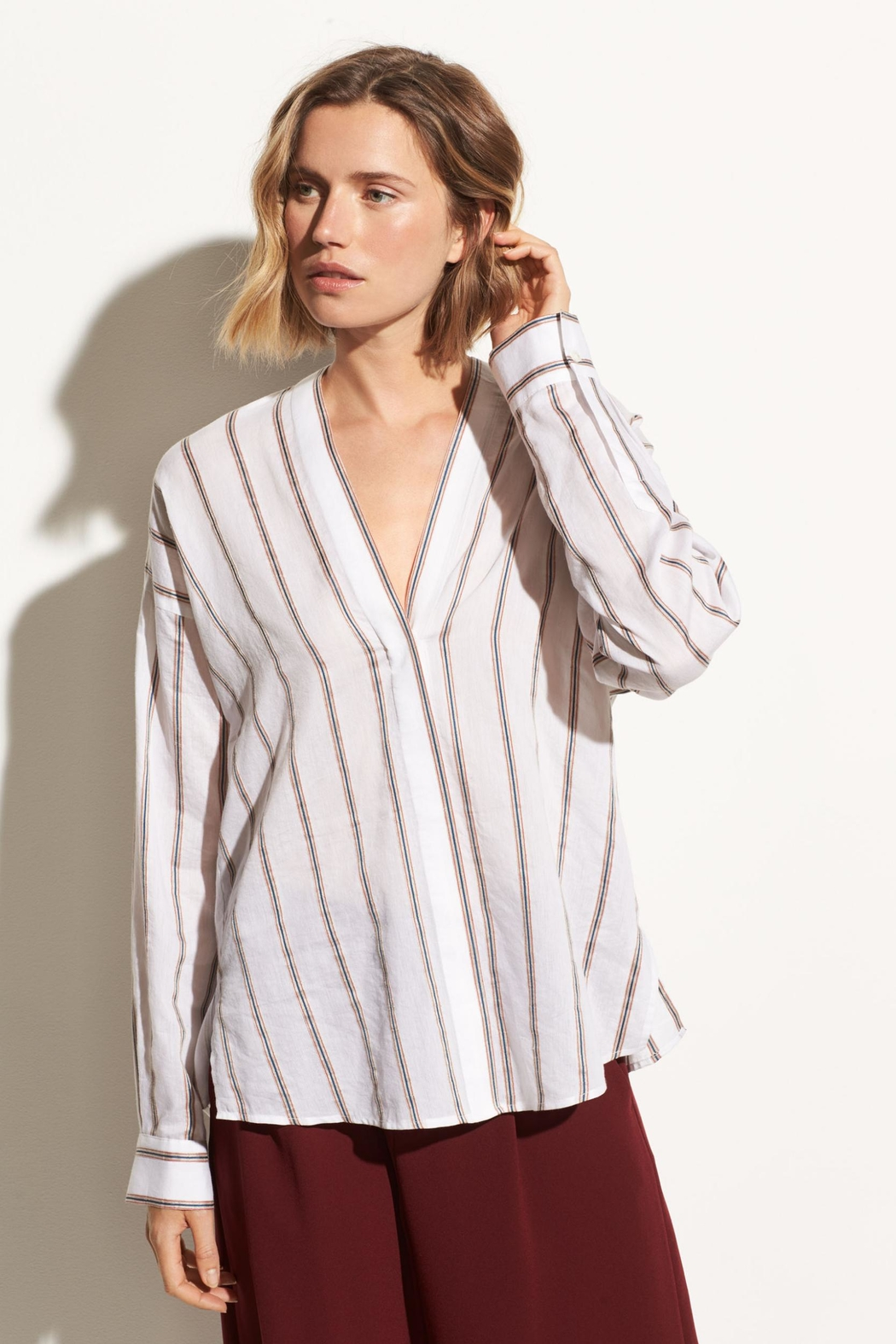 Vince Textured Stripe Pullover - Main Image