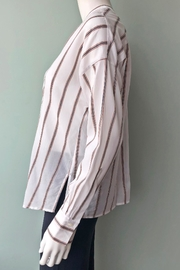 Vince Textured Stripe Pullover - Side cropped