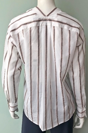 Vince Textured Stripe Pullover - Back cropped