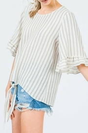 &merci Textured Stripe Top - Product Mini Image