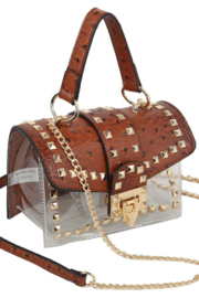 H & D Accessories  Textured Studded Purse - Product Mini Image