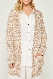 Hayden Textured Sweater Cardigan - Product Mini Image